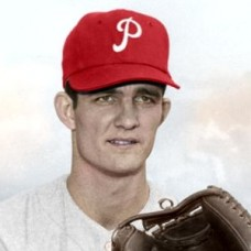 "Mack Burk - 1957 Philadelphia Phillies - 4""x6"" colorized print"