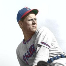 "Monk Dubiel - 1948 Philadelphia Phillies - 4""x6"" colorized print"