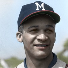 "Ron Henry - c. 1955-60 Milwaukee Braves - 4""x6"" colorized print"