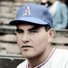 "Arnie Portocarrero -1954 Philadelphia Athletics 4""x6"" colorized print"
