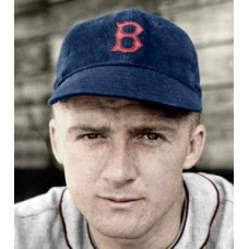 "Bob Daughters - 1937 Boston Red Sox 4""x6"" colorized print"