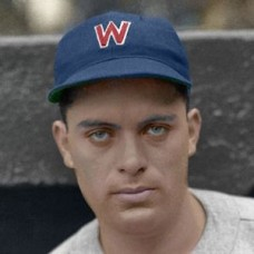 "Chick Starr - 1936 Washington Senators 4""x6"" colorized print"