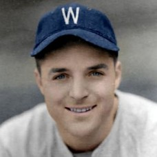 "Dick Hahn - 1940 Washington Senators 4""x6"" colorized print"