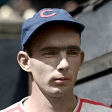"Gene Lillard - 1939 Chicago Cubs 4""x6"" colorized print"
