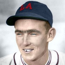 "Gene Lillard - c. 1932-35 Los Angeles Angels 4""x6"" colorized print"