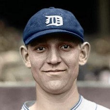 "Jack Warner - 1925 Detroit Tigers 4""x6"" colorized print"