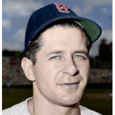 "Johnny Lazor - 1946 Boston Red Sox 4""x6"" colorized print"