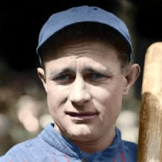 "Josh Devore - 1914 Boston Braves 4""x6"" colorized print"