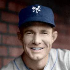"Red Lynn - 1939 New York Giants 4""x6"" colorized print"