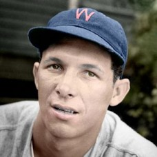 "Roberto Ortiz - 1950 Washington Senators 4""x6"" colorized print"