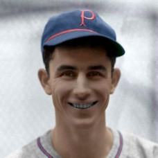 "Vince DiMaggio - 1940 Pittsburgh Pirates 4""x6"" colorized print"