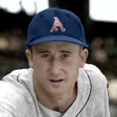 "Bill Harrington - c. 1955-56 Kansas City Athletics 4""x6"" colorized print"