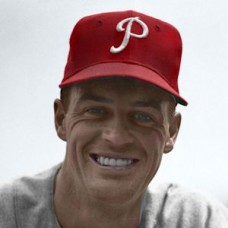 "Bob Greenwood - 1954 Philadelphia Phillies 4""x6"" colorized print"