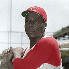 "Bob Thurman - 1956 Cincinnati Reds 4""x6"" colorized print"
