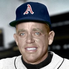 "Dave Melton - c. 1956-58 Kansas City Athletics 4""x6"" colorized print"
