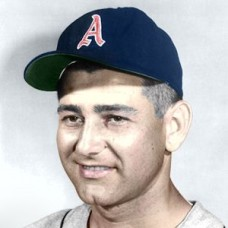 "Duke Maas - 1958 Kansas City Athletics 4""x6"" colorized print"
