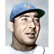 "Ed Bauta - c. 1963-64 New York Mets 4""x6"" colorized print"