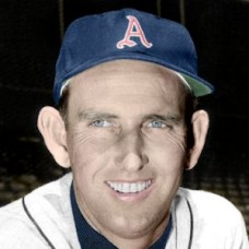"Ewell Blackwell - 1955 Kansas City Athletics 4""x6"" colorized print"
