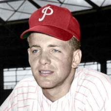 "Fred Van Dusen - 1955 Philadelphia Phillies 4""x6"" colorized print"
