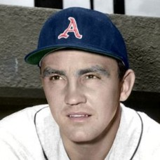 "Irv Noren - 1957 Kansas City Athletics 4""x6"" colorized print"
