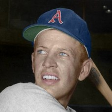 "Jerry Lumpe - 1959 Kansas City Athletics 4""x6"" colorized print"