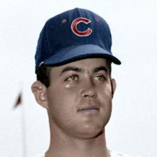 "Joe Campbell - 1967 Chicago Cubs 4""x6"" colorized print"