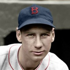 "John Kroner - 1936 Boston Red Sox 4""x6"" colorized print"