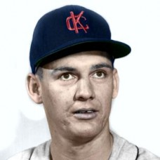 "Johnny Kucks - 1960 Kansas City Athletics 4""x6"" colorized print"
