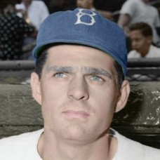 "Marv Rackley - c. 1947-49 Brooklyn Dodgers 4""x6"" colorized print"