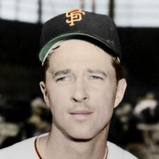 "Pete Burnside - 1958 San Francisco Giants 4""x6"" colorized print"