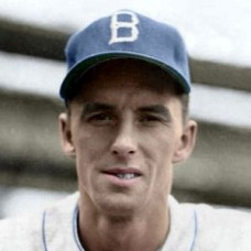 "Phil Haugstad - 1951 Brooklyn Dodgers 4""x6"" colorized print"