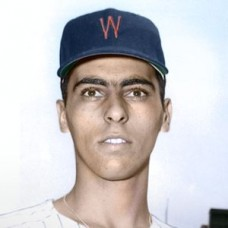 "Ralph Lumenti - 1957 Washington Senators 4""x6"" colorized print"