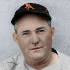 "Rogers Hornsby - 1938 Baltimore Orioles 4""x6"" colorized print"