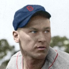 "Spike Merena - 1934 Boston Red Sox 4""x6"" colorized print"