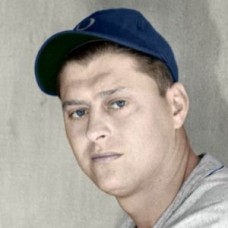 "Steve Rachunok - 1940 Brooklyn Dodgers 4""x6"" colorized print"