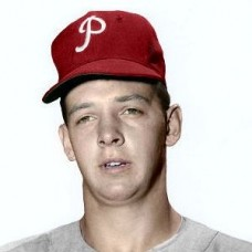 "Tom Qualters - c. 1957-58 Philadelphia Phillies 4""x6"" colorized print"