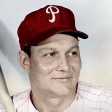 "Wally Post - c. 1958-59 Philadelphia Phillies 4""x6"" colorized print"