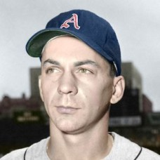"Al Pilarcik - 1956 Kansas City Athletics 4""x6"" colorized print"