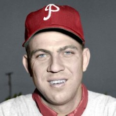 "Andy Hansen - 1952 Philadelphia Phillies 4""x6"" colorized print"