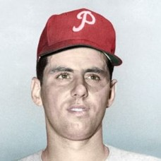 "Angelo LiPetri - 1958 Philadelphia Phillies 4""x6"" colorized print"