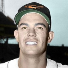 "Art Houtteman - 1957 Baltimore Orioles 4""x6"" colorized print"
