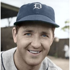 "Billy Sullivan - 1940 Detroit Tigers 4""x6"" colorized print"