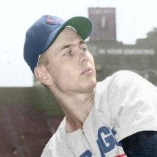 "Bob Thorpe - 1955 Chicago Cubs 4""x6"" colorized print"