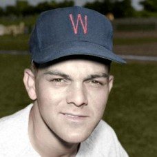 "Buck Varner - 1952 Washington Senators 4""x6"" colorized print"