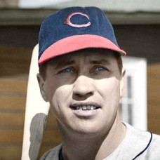 "Charlie Brewster - 1946 Cleveland Indians 4""x6"" colorized print"