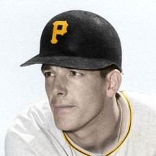 "Chuck Churn - 1957 Pittsburgh Pirates 4""x6"" colorized print"