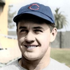 "Cliff Aberson - c. - 1947-49 Chicago Cubs 4""x6"" colorized print"
