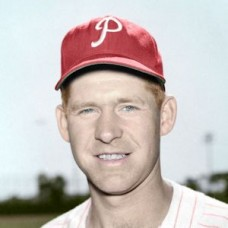 "Danny Schell - c. 1954-55 Philadelphia Phillies Baseball - 4""x6"" colorized print"