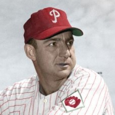 "Del Wilber - 1951 Philadelphia Phillies 4""x6"" colorized print"