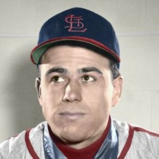 "Ed Mickelson - 1950 St. Louis Cardinals 4""x6"" colorized print"